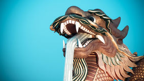 Chinese golden dragon statue Royalty Free Stock Photography