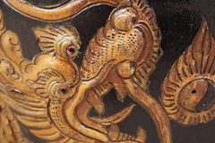 Chinese golden dragon stone craving Royalty Free Stock Photography