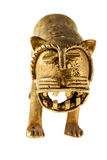 Chinese golden lion statuette Royalty Free Stock Photos