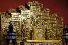 Chinese golden throne Royalty Free Stock Photos
