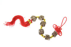 Chinese Good Luck charm. On White Background stock image