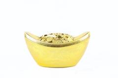 Chinese gouden baar Royalty-vrije Stock Afbeeldingen