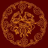 Chinese grafische symbolen Royalty-vrije Stock Afbeeldingen