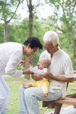 Chinese grandfather and grandmother Stock Photos