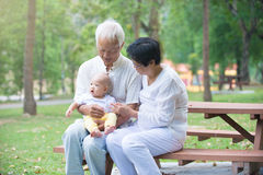 Chinese grandfather and grandmother Stock Images