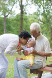 Chinese grandfather and grandmother Stock Image