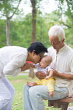 Chinese grandfather and grandmother Stock Photography