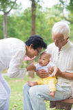 Chinese grandfather and grandmother Stock Photo