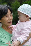 Chinese grandma and baby Royalty Free Stock Photos