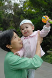 Chinese grandma and baby Royalty Free Stock Photo