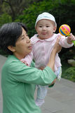 Chinese grandma and baby royalty free stock photography
