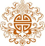 Chinese graphic symbols. Vector illustration Stock Photography