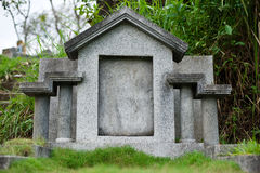 Chinese grave with blank gravestone Royalty Free Stock Photo