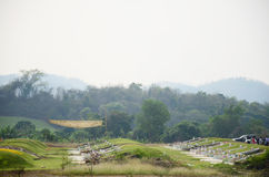 Chinese grave at The Qingming Festival Time in Ratchaburi Thailand Royalty Free Stock Photography