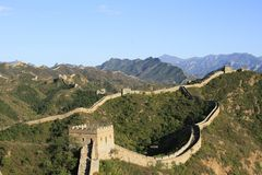 Chinese Great Wall. The Great Wall of China Stock Photo