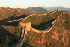 Chinese Great Wall. The Great Wall of China Stock Photos