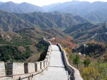 Chinese Great Wall. Landscape against a backdrop of mountains Stock Photography