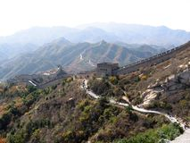 Chinese Great Wall. Landscape against a backdrop of mountains Stock Images
