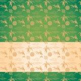 Chinese green bamboo pattern horizontal banner Stock Photo
