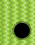 Chinese green bamboo pattern with round banner Royalty Free Stock Photo