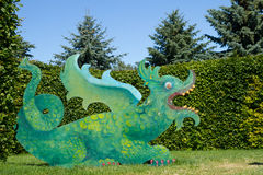 Chinese green dragon Royalty Free Stock Images