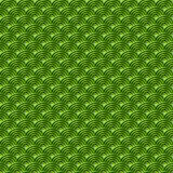 Chinese green seamless pattern dragon fish scales simple seamless pattern Nature background with japanese wave circle pattern past. El colors on green background Stock Images