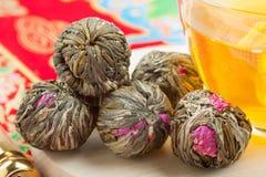 Chinese green tea balls Stock Photography