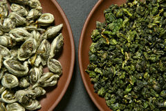 Chinese green teas Royalty Free Stock Photo