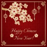 Chinese greeting card Stock Photos