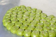 Chinese groene kleverige rijstbollen op verkoop in Suzhou Royalty-vrije Stock Fotografie