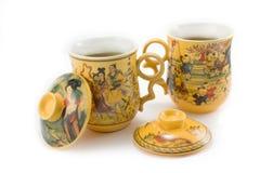 Chinese groene thee Stock Afbeeldingen