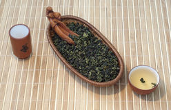 Chinese groene thee tieguanyin royalty-vrije stock afbeeldingen