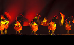 Chinese group dance  Stock Images