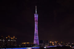 Chinese Guangzhou new TV Tower, a nickname or our waistline. Stock Photo