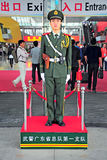 Chinese guard on duty at canton fair Stock Photo