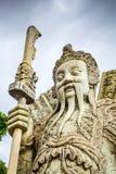 Chinese Guard statue in Wat Pho, Bangkok, Thailand stock photography