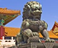 Chinese guardian lion stock photo