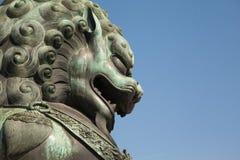 Chinese guardian lion Stock Image