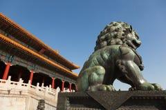 Chinese guardian lion Stock Photos