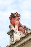 Chinese guardian lion. Lin Kai Temple in Macau Royalty Free Stock Photography