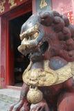 Chinese guardian lion. Sam Seng Temple in Macau Royalty Free Stock Photo