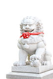 Chinese guardian lion statue Stock Photo