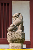 Chinese guardian lion statue Royalty Free Stock Photos