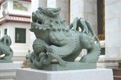 Chinese guardian lion statue, Wat Bowonniwet Vihara. Bangkok, Thailand Stock Images