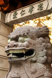 Chinese Guardian Lion/ Stone Lion at San Francisco China Town. A close view of a Chinese guardian lion at San Francisco China Town Royalty Free Stock Photos