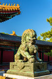Chinese guardian lion at the Summer Palace - Beijing. Chinese guardian lion at the Summer Palace in Beijing Stock Photography