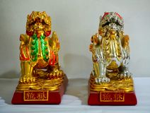 Chinese guardian lions. For the Chinese dog breeds called Lion Dogs, Foo Dog stock photos