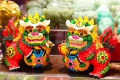 Chinese guardian lions stock photos