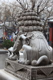 Chinese guardian lions Royalty Free Stock Photo