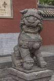 Chinese guardian lions outside Huayan Temple Royalty Free Stock Photos